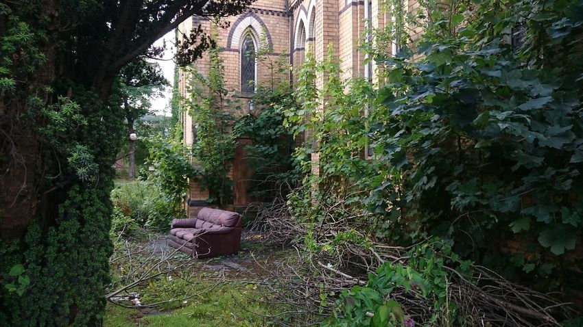 Church Buildings Abandoned & Derelict Abandonment_issues No Filter, No Edit, Just Photography Leather Couch Churchporn Overgrown And Beautiful Eyeem-abandonment Nature Makes Me Smile Abandoned Places Church Glass Windows Adapted To The City