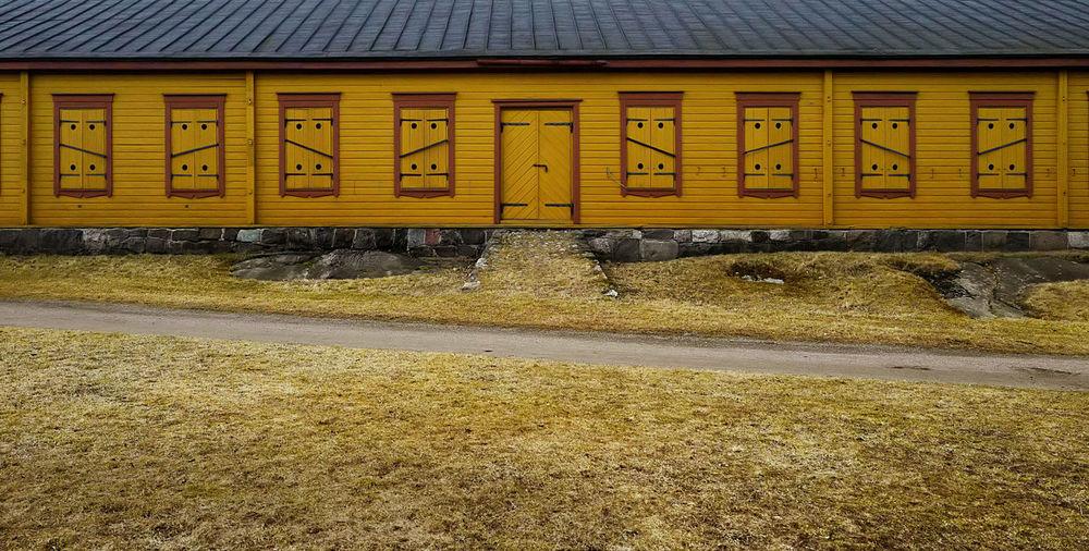 Barn Grass House Road Rock - Object Rural Symmetrical Warehouse Yellow Art Is Everywhere The Architect - 2017 EyeEm Awards