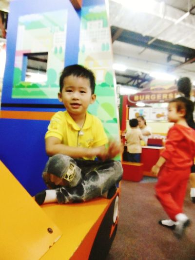 Childhood Boys Playing Colors Child Classroom Thailand Fun Colorful Girls One Boy