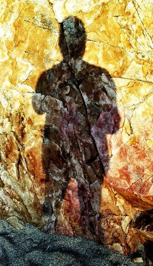 Textured  Male Person. Shadow Stone Material Rocks Backgrounds Rough Outdoors Nature Full Frame