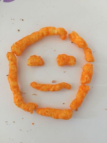 Food Face Snack Time Snacks! Cheetos Orange Orange Color Smile Smile ✌