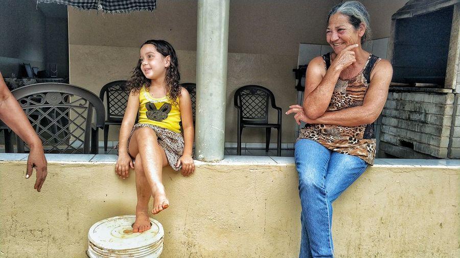 Cousin Family Brasil Brazil EyeEmNewHere Followtofollow Likeforlike Goias Grandmother Old Woman Grandma Grandmother And Grandchild Grandmother And Grandson Smiles Natural Two People Sitting Friendship Togetherness