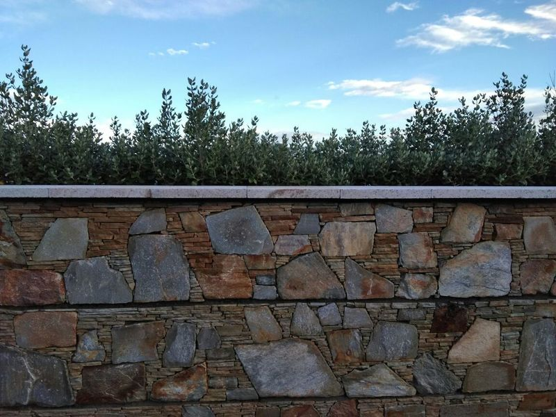 Stones Stone Wall Sky Greenery Compound No People