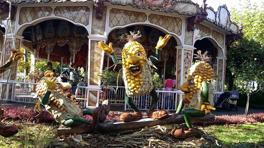 Corn Men Halloween Outdoors