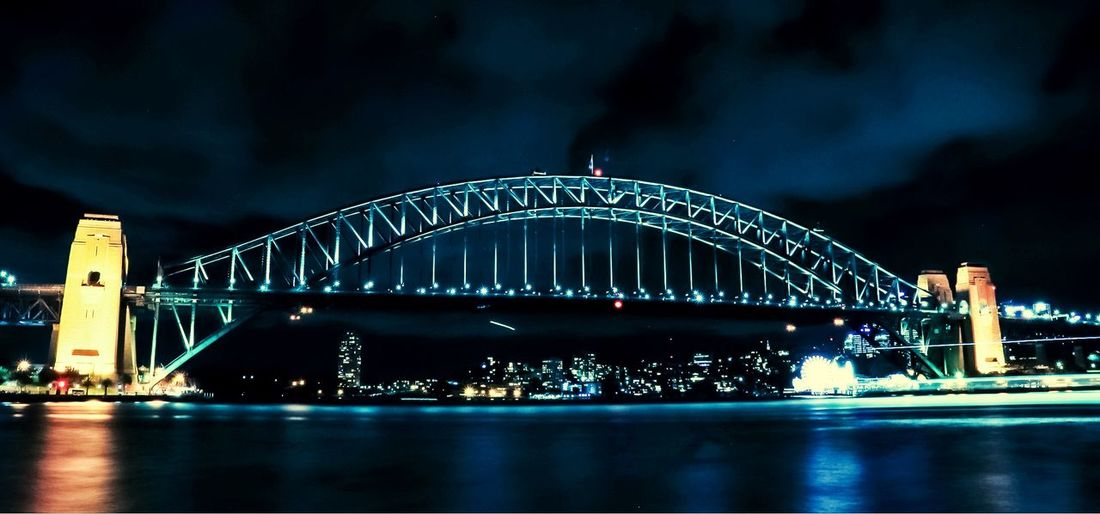 Harbour light trails Sea_collection Cityscape Night Lights Nightphotography Sydney Harbour Bridge Transport Engineering Architecture_collection Famous Landmarks Australian _collection Australian Photographers Ferry Light Trails Architecture Illuminated Water Built Structure Night Sky Building Exterior Waterfront Cloud - Sky Bridge Bridge - Man Made Structure Travel Destinations Tourism Travel Reflection Connection No People City The Architect - 2018 EyeEm Awards The Traveler - 2018 EyeEm Awards