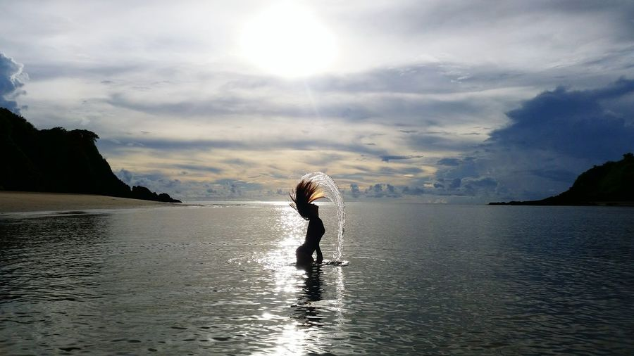 The Magic Mission Silhouette Sunset Sky Beach Philippines El Nido Sea Mermaid Eyeem Philippines People And Places The Week On EyeEm Lost In The Landscape Inner Power