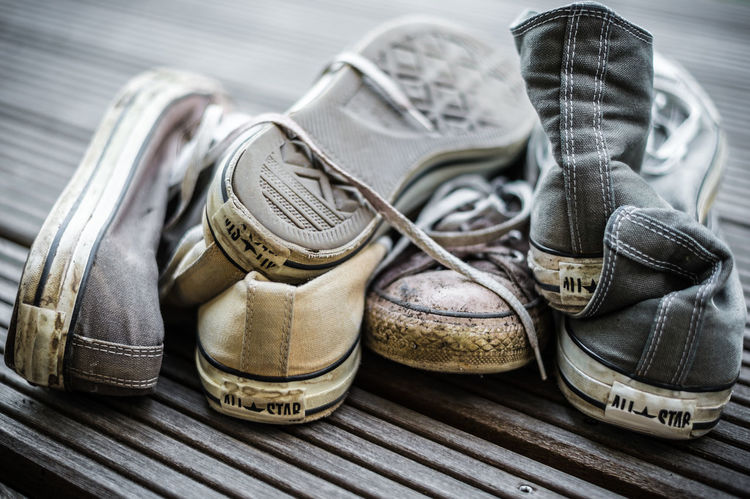 Chucks don't die. They just fade away. All Star Chuck Taylor Chucks Classic Classic Shoes Classic Sneakers Classical Close-up No People Shoes Sneakers Still Life Used Used Things Worn Out Worn Out Sneakers