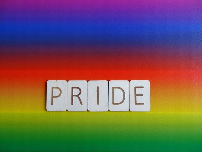 Pride Typography Wooden Letters Letters Word Rainbow Colors Rainbow Lgbt Pride Lgbt Pride Text Communication Yellow Textured  Green Color Backgrounds No People Multi Colored Close-up Indoors  Day