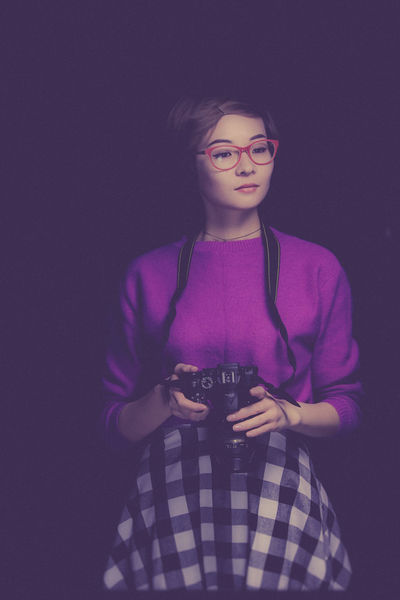Photo is my soul Purple Only Women Pink Color Portrait Nikon Astana Girl Girl Power Redglasses Asian  Asian Girl