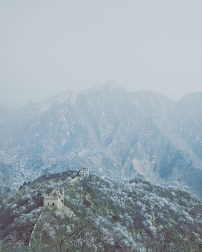 Great wall of China China Great Wall Of China Hikers Nature No People Outdoors Sky Beauty In Nature Day Scenics View