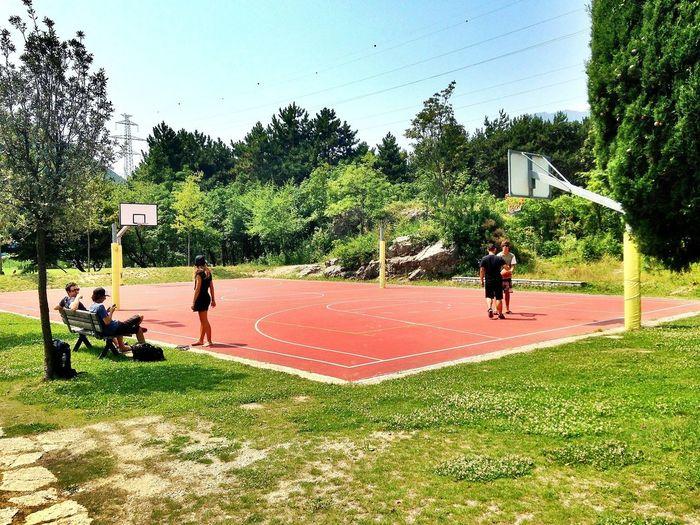 Basketball Hanging Out Relaxing Enjoying Life
