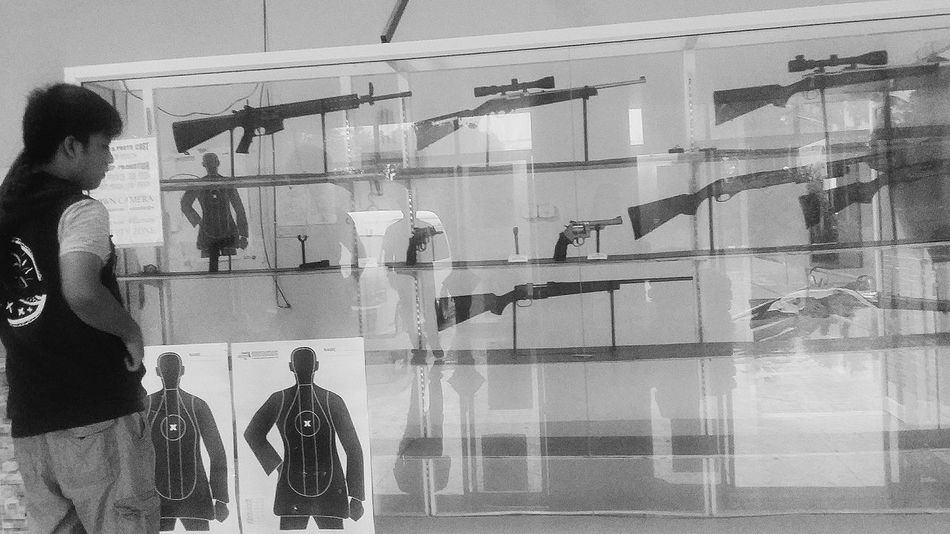 Guns are illegal in Singapore. Am totally not for guns but my 18 year old has always shown interest in them. He had asked to visit a Shooting Range  two years ago when I first brought the boys to Koh Samui and I'd said no. His dreams came true today. He chose a sniper and a pistol. For just 10 bullets per gun, the 10 minute session cost me $184 (excluding Taxi S$64, two photos S$16). Snapshots Of Life Capture The Moment Lamai Thailand Recreation  Travelphotography Street Photography Bnw Bnwcollection Bnwphotography Bnw_captures Bnw_travel Bnw_world Bnw_kohsamui Bnw_thailand Streetphotography