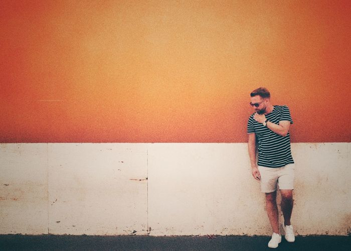 Chill White Man Model Sneakers Shorts Picoftheday Nice Cool Like Vacations Stripes Sunglasses Orange Color Italy Rome Wall - Building Feature Full Length One Person Real People Standing The Modern Professional Lifestyles Casual Clothing Wall Architecture Day Rear View Fashion Adult Digital Composite Holiday Moments EyeEmNewHere Redefining Menswear 17.62°