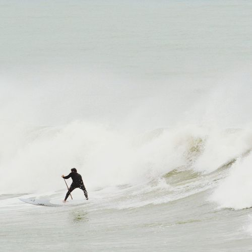 Man surfing in sea