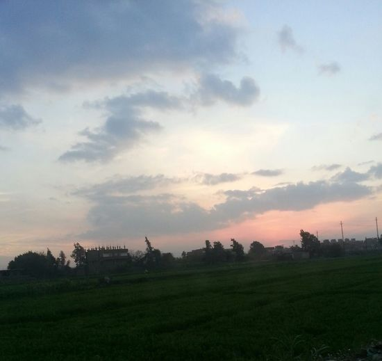 Sunset Sky Over Horizon Countryside Beautiful Place Verycold Fieldscape Fields And Sky Egypt ❤