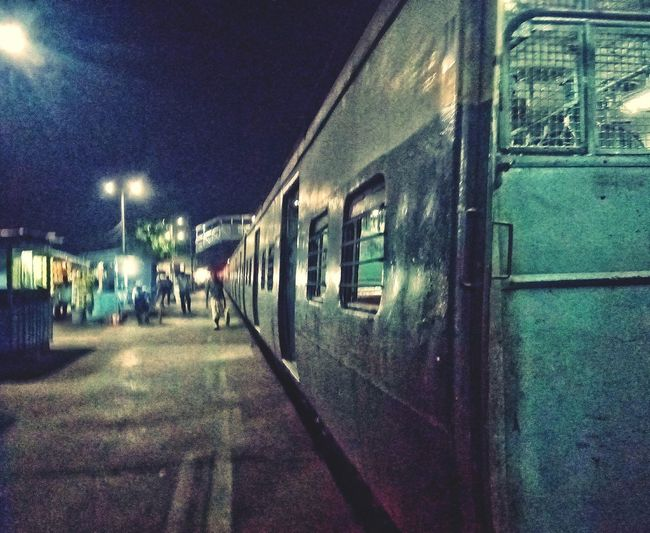 Railway Nightphotography Krishnagar First Eyeem Photo