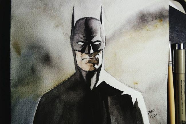 Batman Inktober ArtWork Art Sketchbook