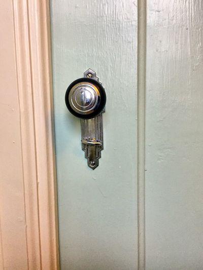 Safety Door Wood - Material Close-up No People Doorknob Indoors  Day Art Deco Handle Bathroom Room Retro Vintage Shiny Reflection Reflective Eye4photography  EyeEm Gallery Wood Metal Lock