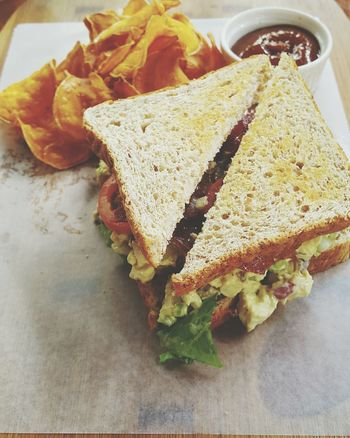Sandwich Toasted Sandwich Toasted Bread Chips Lunch Chicken Sandwich Light Lunch No People Crisps Sliced Bread