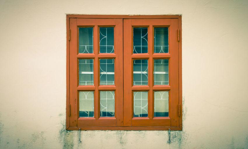 Closed Window Doors In Building
