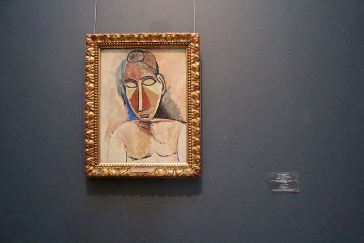 Picasso Picasso Art  Human Representation Representation Indoors  No People Creativity Male Likeness Art And Craft Frame Picture Frame Wall - Building Feature Still Life Close-up Gold Colored Female Likeness Text Craft Number Religion Communication Single Object Art Picasso Art  Picasso