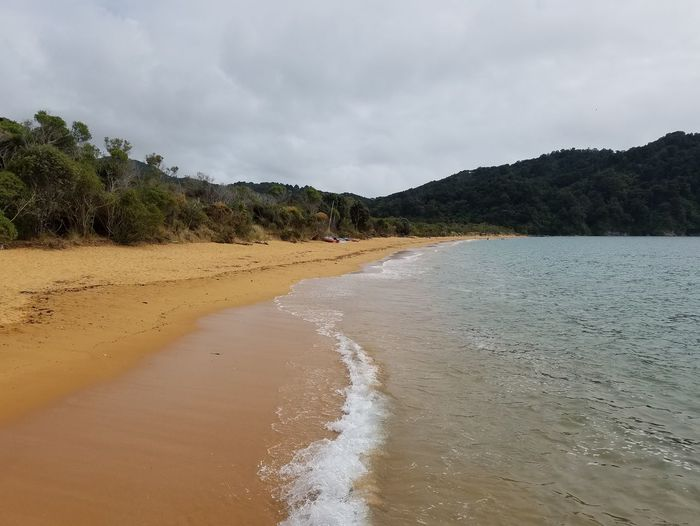 Golden sands Golden Bay Beach Beauty In Nature Golden Sand Landscape Nature No People Sea Tranquil Scene Water