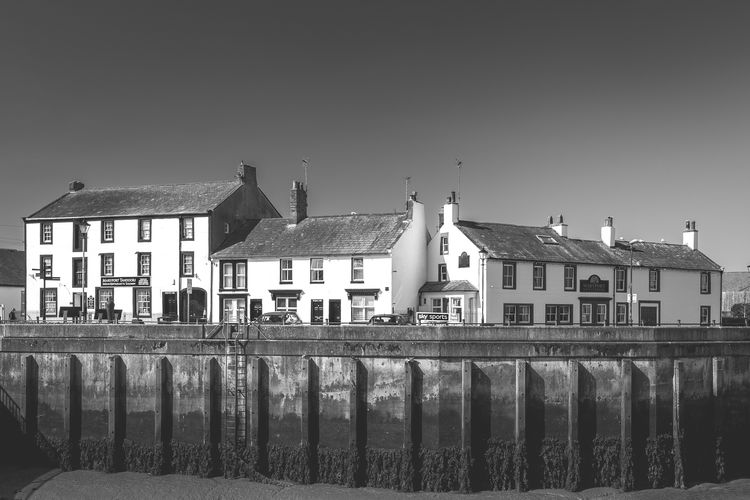 Cumbria England UK Harbour Architecture Blackandwhitephotography Building Building Exterior Clear Sky monochrome photography No People Seaside Town Sky Water