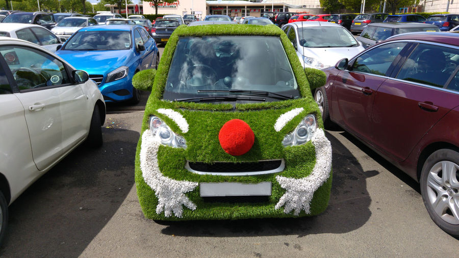 Car Funny Funny Cars City Life Masquerade Small Car Cityscape Fun Grass Urban Lifestyle