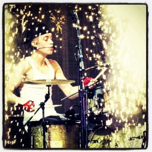 Justinbieber Drummer BELIEVEtour Concert2013 instalikes instabelieber instagallery instaphoto instajustin thebiebz justinbieber