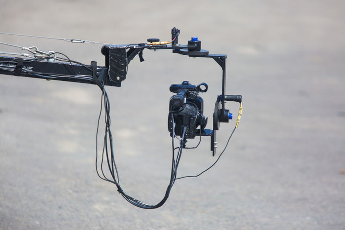 television crane with camera Camera Cranes Cable Day Grua Movie Crane Photography Themes Technology Tv Crane Video Camera