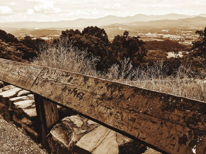 Nature Outdoors Wood - Material Scenics Sepia Toned Back In The Day Railing _ Collection Mountain Ridge