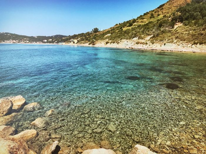 Water Nature Day Beauty In Nature Beach Sea Outdoors Mountain Tranquility