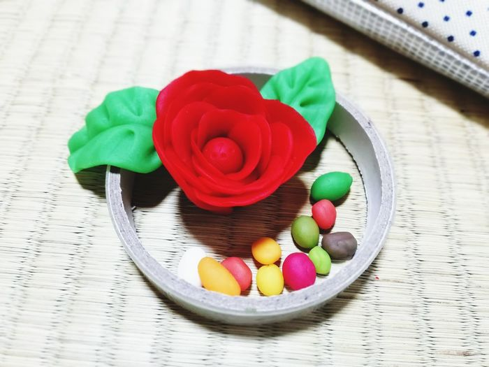 Clay Rose - Flower Clay Claywork Flower Studio Shot Multi Colored Close-up Molding A Shape Rose Petals Single Rose