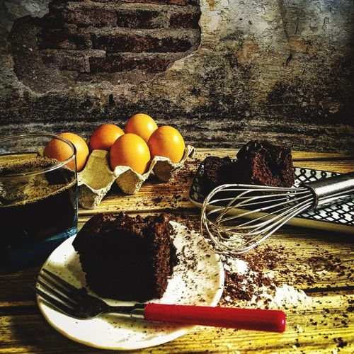 chocolate cake No People Healthy Eating Nature Sunlight Wellbeing Egg