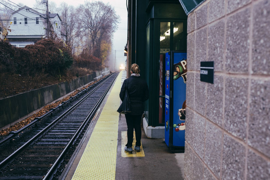 New York VSCO Perspectives FUJIFILM X100S (null)Waiting For A Train Public Transportation Train Streetdreamsmag