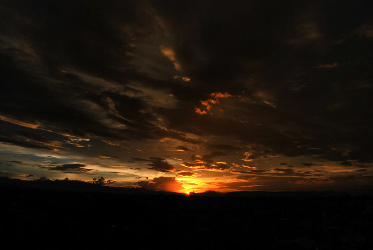sun goes down Beauty In Nature Cloud - Sky EyeEmNewHere Long Goodbye Nature No People Outdoors Scenics Silhouette Sky Sunset Tranquility