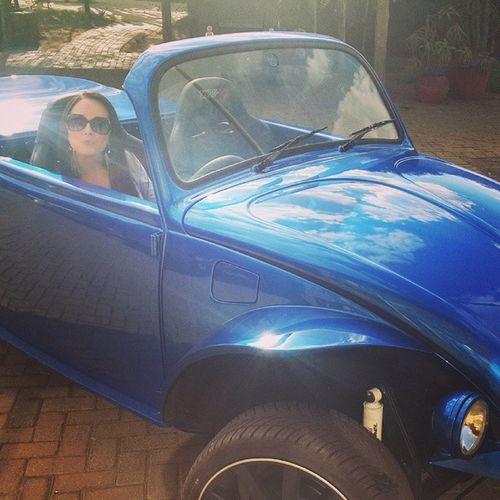 My new car! ;) VW Metalicblue Pumpingsound Cool retro awesome feelinglegit sundaydrive