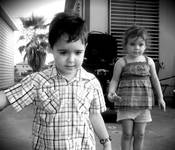 Family Togetherness Mission Looking Down Outside Children Two People Hello World Check This Out Enjoying Life Taking Photos Blackandwhite