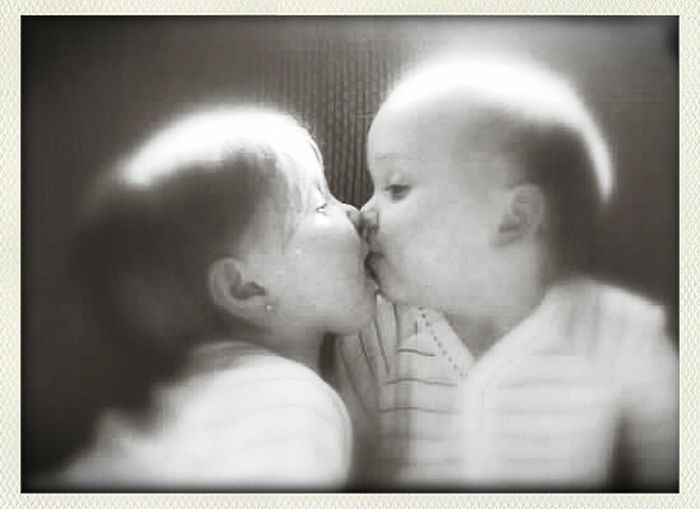 Twin Love Kisses Unspoken My Cup Runneth Over