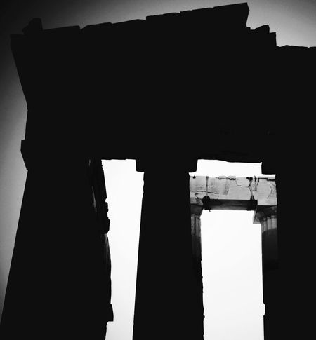 Silhouette Built Structure Architecture Indoors  Paper Day No People Building Exterior Sky Classical Architecture Shadows & Lights Parthenon Acropolis Greece Parthenon Athens, Greece