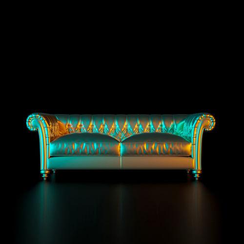 Sofa over black background