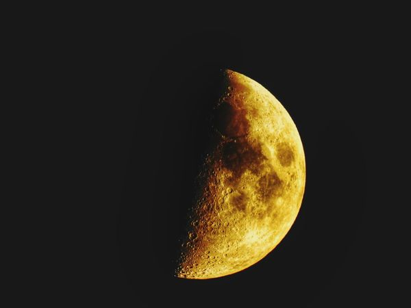 Astronomy Space Half Moon Moon Space Exploration Galaxy Crescent Satellite View Astrology Sign Solar System