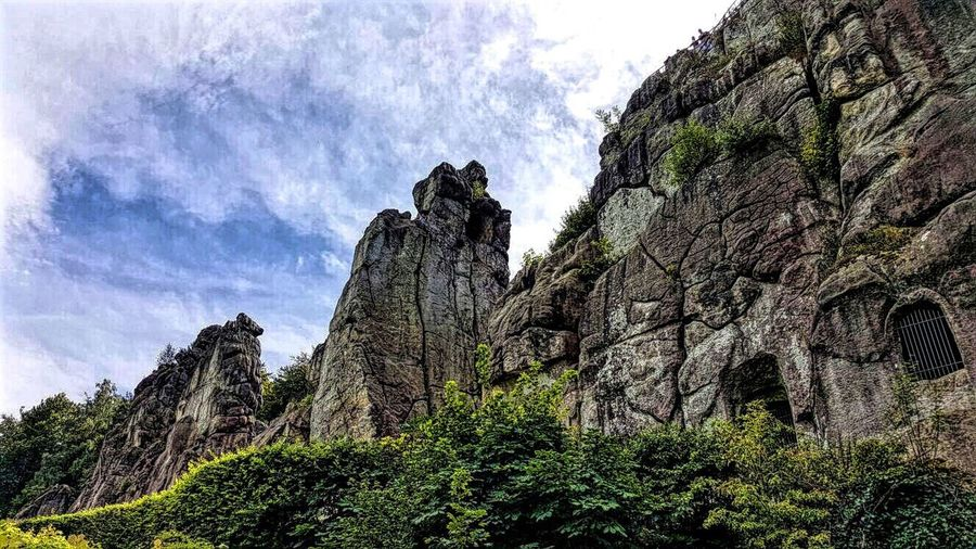 Externsteine in Horn-Bad Meinberg, nrw Geology Physical Geography Nature Rock - Object Landscape Sky Beauty In Nature Mountain No People Outdoors Day