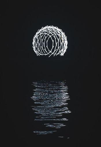 Fireworks over black background