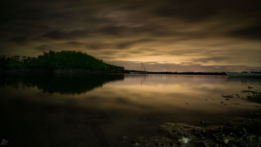 Olango Island Lake Reflection Nature Sky Water Beauty In Nature Scenics Outdoors Night Landscape Tree Astronomy No People