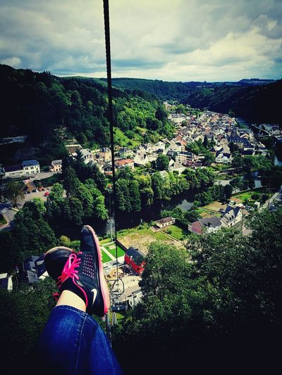 Outdoors Sky View From Above Skilift Pinkshoes Vacationing Vianden Luxembourg Lushgreenery Beutiful Place