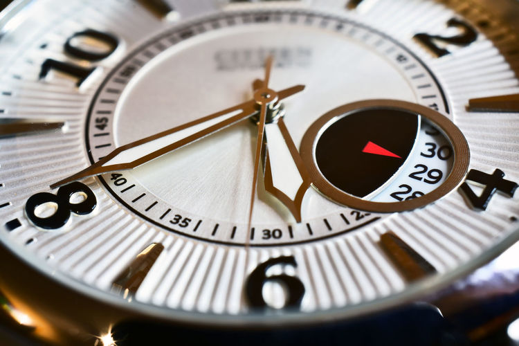 Over time Time Clock Face Minute Hand Clock Number Watch Accuracy Close-up Timer Day
