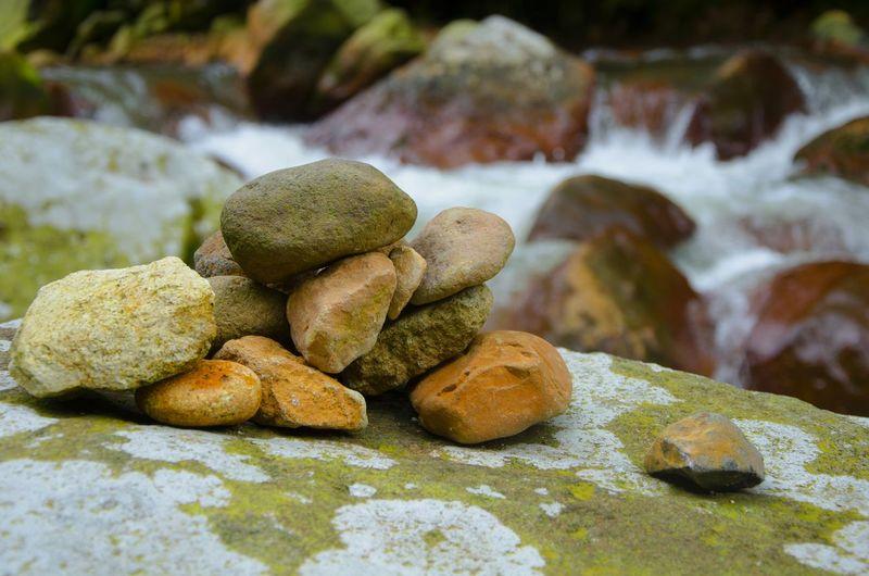 Close-up of stones on rocks