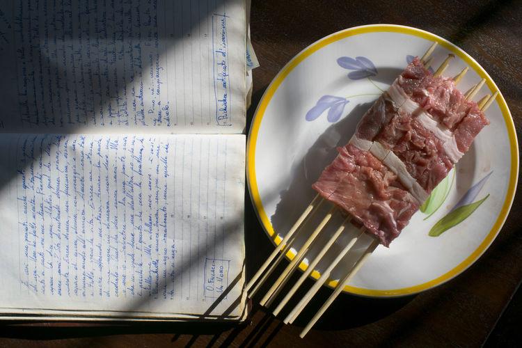 arrosticini abbruzzesi Skewer Arrosticini Arrosticini Abruzzesi Meat Mutton Ovine Sheep Skewers