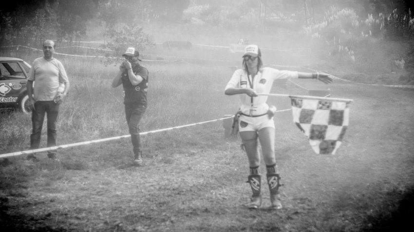 Day Dusty Track Finish Line  Full Length Girls Grass Leisure Activity Monochrome Photography Moto Motor Motorcycle Motorcycles Nasmgraphia Outdoors People Real People Rear View
